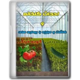 آموزش احداث گلخانه و کاشت خاکی خیار و گوجه فرنگی گلخانه ای